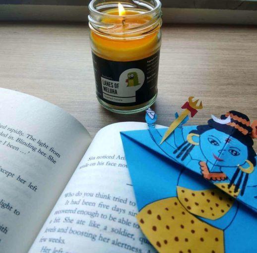 lanes-of-meluha-candle-booksom-shiva-bookmark-indian-gods-origami-paper-craft